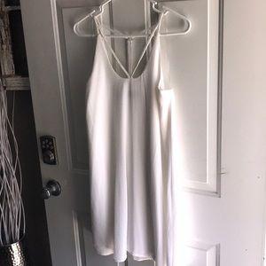 Francesca's White Dress (Blue Rain)